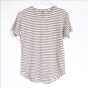 Madewell Scoop neck short sleeves stripes tee S